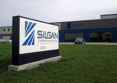 Silgan Illuminated Sign