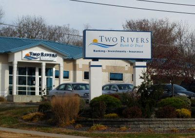 Two Rivers Illuminated Sign