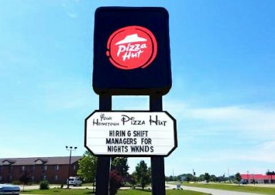 Pizza Hit Illuminated Sign After