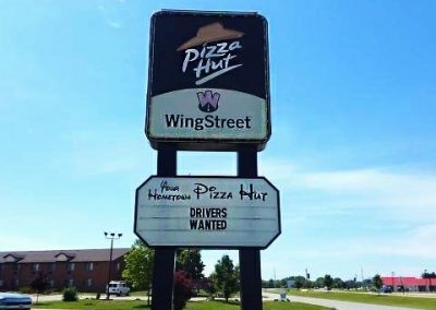 Pizza Hut Sign Before