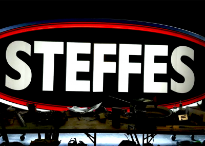 Steffes Illuminated Sign