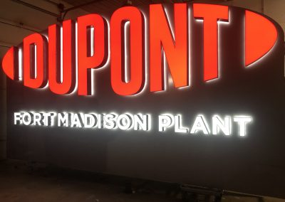 DuPont Illuminated Sign