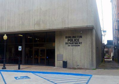 Burlington Police Department Non-Illuminated Sign