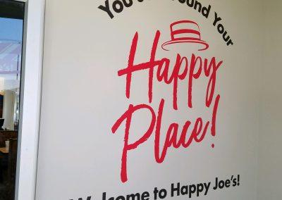 Happy Joe's Non-Illuminated Sign